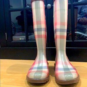 Burberry Plaid Rain Boots